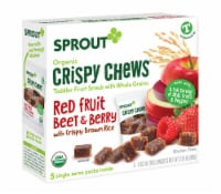 Sprout Red Fruit Beet & Berry with Crispy Brown Rice Organic Toddler Crispy Chews