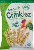Sprout Organic Crinklez Cheesy Spinach Popped Veggie Snack