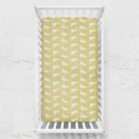 Pam Grace Creations CS-Kangaroo 50 x 28 x 8 in. Honeydew Kangaroo Fitted Crib Sheets  Yellow - 1