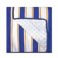 Pam Grace Creations BL-Sports 45 x 36 in. All Star Sports Reversible Chenille Dot Baby Blanke