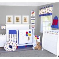 Pam Grace Creations BDNB-10-Bears Bears & Balloons Crib Bedding Set  Multi Color - 10 Piece - 1