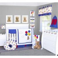 Pam Grace Creations BDNB-6-Bears Bears & Balloons Crib Bedding Set  Multi Color - 6 Piece