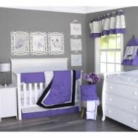 Pam Grace Creations BDNB-6-Butterflies Butterflies & Dragonflies Crib Bedding Set  Lavender