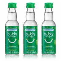 SodaStream bubly drops Lime Unsweetened Natural Flavor Essence - 3 Pack