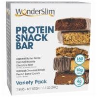 WonderSlim Protein Snack Bar, Variety Pack (7ct) - 7/Box