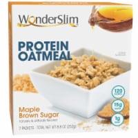 WonderSlim Protein Oatmeal, Maple Brown Sugar (7ct) - 7/Box