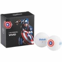 Volvik 6207 Volvik Marvel Golf Balls 4pk-Captain America - 1