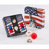 Volvik 9875 Volvik Vivid USA Golf Balls 6 Balls w Ball Marker Hat Clip - 1