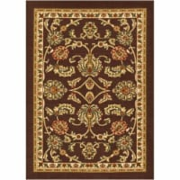 Well Woven 66334 Tabriz Traditional Non Slip Washable Rug, Brown - 3 ft. 3 in. x 4 ft. 7 in.