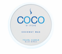 COCO by Stone Blue Birch Coconut Wax Candle Travel Tin - White