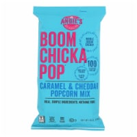 Angie's Kettle Corn Boomchickapop Caramel and Cheddar Popcorn Mix - Case of 12 - 6 oz.