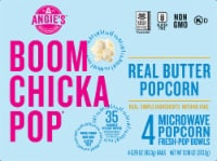 Angies Boom Chicka Pop Real Butter Microwave Popcorn 4 Count