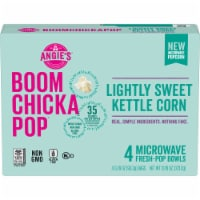 Angie's Boom Chicka Pop Lightly Sweet Kettle Corn Microwave Popcorn 4 Count