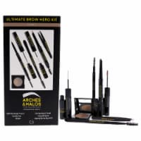 Arches and Halos Ultimate Brow Hero Kit  Light Surgical Stainless Steel Brow Tweezers, Angled - 7 Pc