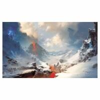 Legion Supplies LGNPLM144 Play Mat Lands Mountains Card Accessories - 1