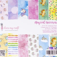 Dress My Craft DMCP1838 1-Sided Paper Pad - Magical Unicorn, 12 x 12 in.