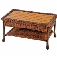 W Unlimited SW1529CT Outdoor Faux Sea Grass Garden Patio Coffee Table - 1