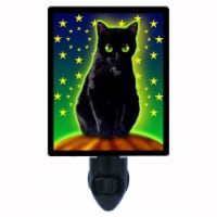 Halloween Decorative Photo Night Light. Halloween Kitty. Free Extra Picture For Lights. - 1