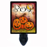 Halloween Pumpkin Photo Night Light. Boo Pumpkins. Free Extra Picture For Lights. - 1
