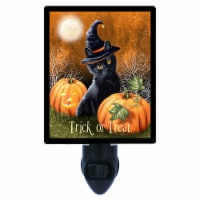 Halloween Night Light. Trick Or Treat Cat. Black Cats. Free Extra Picture For Lights. - 1