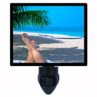 Tropical Decorative Photo Night Light. Beach Time. Free Extra Picture For Lights. - 1