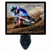 Sports Decorative Photo Night Light. Motocross. Motorcycle. Free Extra Picture For Lights. - 1