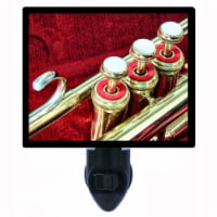 Music Themed Photo Night Light. Valves. Trumpet. Cornet. Free Extra Picture For Lights. - 1