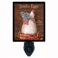Kitchen Decorative Photo Night Light. Jumbo Eggs. Free Extra Picture For Lights. - 1
