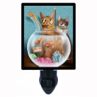 Cat Decorative Photo Night Light. No Fishing. Cats. Free Extra Picture For Lights. - 1
