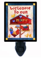 Decorative Photo Night Light. Free Switchable Insert. Welcome To Our Home - 1