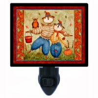 Autumn Photo Night Light. Fall-n-for-you. Scarecrow. Free Extra Picture For Lights. - 1