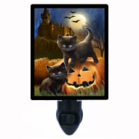 Halloween Cats Photo Night Light. Did We Scare You? Free Extra Picture For Lights. - 1