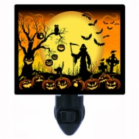 Halloween Decorative Photo Night Light. Beware Take Care. Free Extra Picture For Lights. - 1