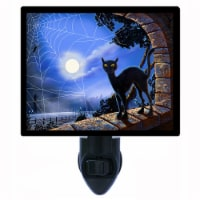 Halloween Photo Night Light. Window Decorations. Black Cat. Free Extra Picture For Lights. - 1
