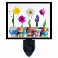 Decorative Photo Night Light. Free Switchable Insert. Decorative Pots - 1