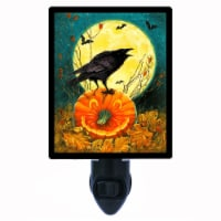 Halloween Photo Night Light. Don't Get Cawed. Black Crow. Free Extra Picture For Lights. - 1