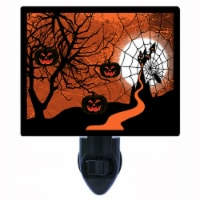 Halloween Decorative Photo Night Light. Halloween Web. Free Extra Picture For Lights. - 1