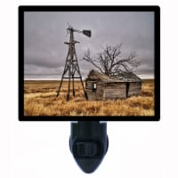 Vintage Farm Decorative Photo Night Light. Abandoned. Free Extra Picture For Lights. - 1