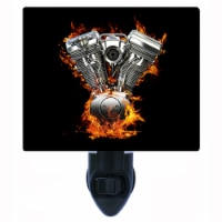 Motorcycle Decorative Photo Night Light. Flaming Chrome. Free Extra Picture For Lights. - 1