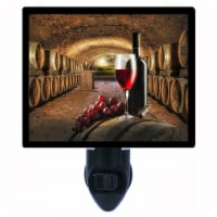 Kitchen Decorative Photo Night Light. Red Wine Cellar. Free Extra Picture For Lights. - 1