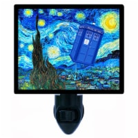 Tardis Decorative Photo Night Light. Dr. Who Starry Night. Free Extra Picture For Lights. - 1
