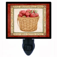 Apples Decorative Photo Night Light. Red Apple Basket. Free Extra Picture For Lights. - 1