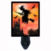 Halloween Decorative Photo Night Light. Free Switchable Insert. Halloween Witch - 1