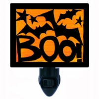 Halloween Decorative Photo Night Light. Boo Bats. Free Extra Picture For Lights. - 1