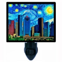 Van Gogh Decorative Photo Night Light. Houston Starry Night. Free Extra Picture For Lights. - 1
