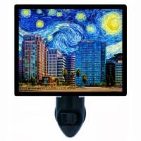 Van Gogh Decorative Photo Night Light. Free Switchable Insert. San Jose Starry Night - 1