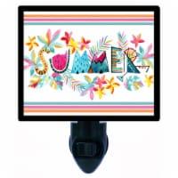 Tropical Summer Decorative Photo Night Light. Free Switchable Insert. Summer - 1