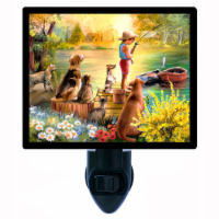 Fishing Decorative Photo Night Light. Waiting For Dinner. Free Extra Picture For Lights. - 1