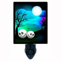 Halloween Decorative Photo Night Light. Halloween Faces. Free Extra Picture For Lights. - 1