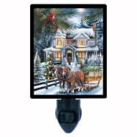 Christmas Decorative Photo Night Light. Here Comes The Tree. Free Extra Picture For Lights. - 1